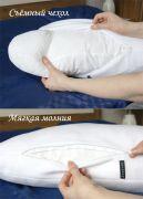 Внутренняя часть подушки сшита из ситца и наполнена холофайбером.